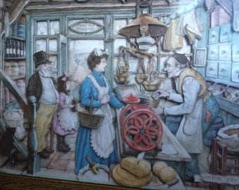 """The """"Grocery Store"""" by Anton Pieck"""