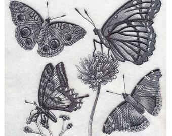 Custom Embroidered Butterfly / Butterflies Sweatshirt S-3XL