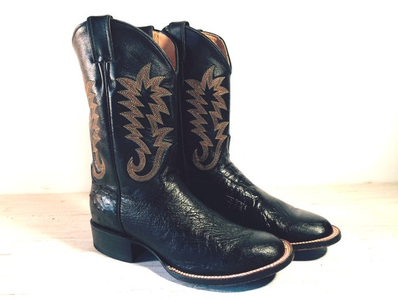 Blackjack Ostrich Skin Boots Keno Home Draw