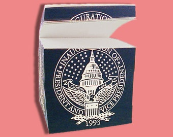 Notepad Cube from First Clinton Inauguration