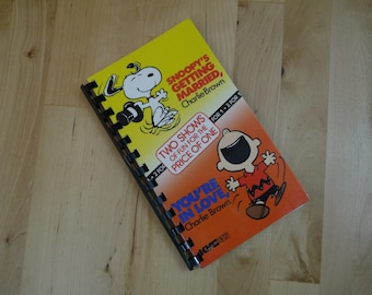 Handmade Peanut Charlie Brown and Snoopy Movie Re-purposed VHS Cover Notebook Journal