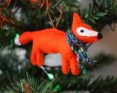 Felt Fox Christmas Tree Ornament