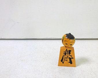 1.4in Vintage Japanese Miniature Wood KOKESHI Doll