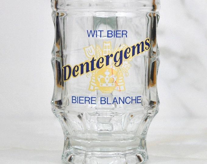 Vintage Dentergems Glass Stein, WitBier (Wheat Beer) Biere Blanche (White) Beer Mug, Bier Stein, Brewery Riva, Beer Glass, Barware, Bier Mug