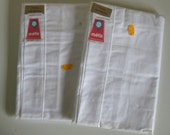 Pair of bolster pillowcases unused white metis French traversins