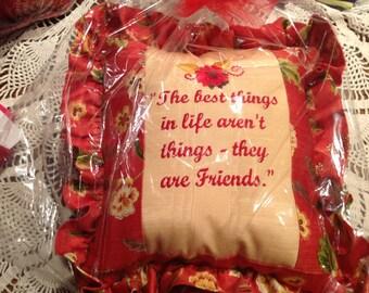 Custom friendship pillow
