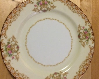 "Noritake Rosebud 6002 7 5/8"" Salad Plate"