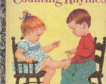 ON SALE Counting Rhymes - Vintage Little Golden Book - 1970s - American Edition