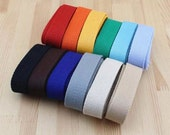 Cotton Webbing (25mm) 1 Inch Five Yards Your Choice For Key Fobs Handbags 5 yards (T262)