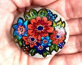 wildflower series -2 / painted rocks / painted stones / rock art / boho art / boho decor / hippie / small art / hand painted rocks /cape cod