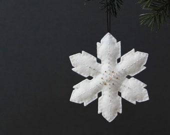 Nikkie's Snowflake Ornament - White