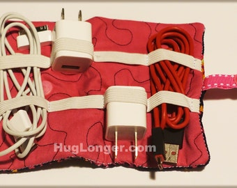 ITH Cord Holder Roll up 5x7 embroidery file HL1044 USB case organizer