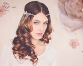 Gatsby Bridal Headpiece, Gatsby Crystal Bridal Headband, Crystal Bridal Hair Jewelry, The Hannah Crystal Headpiece Halo #144