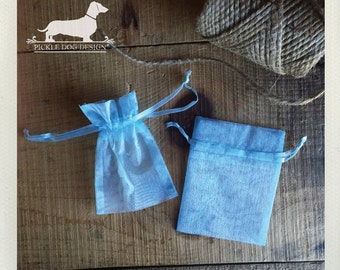 CLEARANCE! Set of 4 Mini Organza Bags -- (Vintage-Style, Baby Shower, Rustic Chic, Gift Wrap, Wedding Favor Bag, Party Favor)