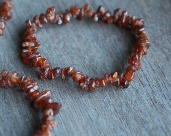 Hessonite Garnet Stretchy String Bracelet B32