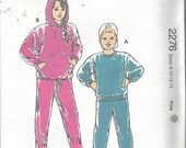 Vtg Kwik Sew 2276 Pattern  Childs Jogging Suit  Size 8-14 Uncut Sealed