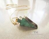 The Green Arrow - Arrow Inspired Fluorite Stone Necklace