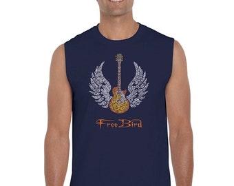 Men's Sleeveless Shirt - LYRICS TO FREEBIRD