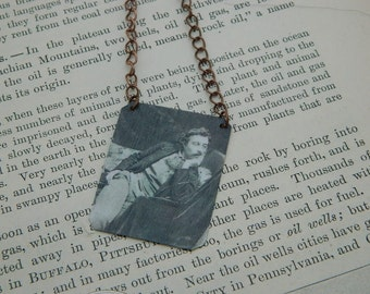 Artist necklace Paul Gauguin mixed media jewelry