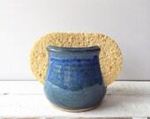 Blue pottery sponge holder, ceramic sponge holder