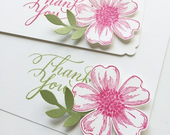 Flower Thank You Note Cards