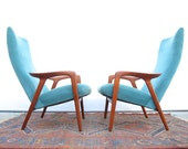 Pair of Alf Svensson Teak Lounge Chairs