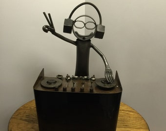DJ Metal Sculpture