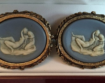 Lovely Rare Vintage Dante Museum Masterpiece Cufflinks Greek Reclining Lovers
