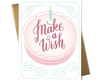 Make a Wish Cake - Greeting Card
