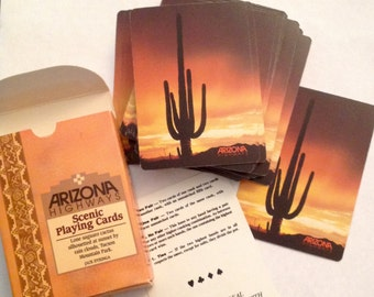 Vintage Arizona Highways cactus playing cards Liberty