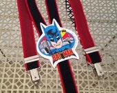 Vintage KIDS Batman Suspenders, Vintage Kids Accessories, Vintage Batman Memorabilia, 1980s Batman