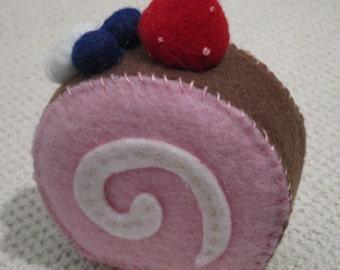 Strawberry Jellyroll pin cushion