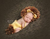 Crochet Baby Hat, Baby Lion Hat, Crochet Lion Hat, Baby Girl Hat, Baby Boy Hat, Newborn Lion Hat, Infant Lion Hat, Baby Animal Hat, Yellow