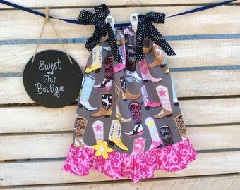 Cowgirl Boots Pillowcase Dress