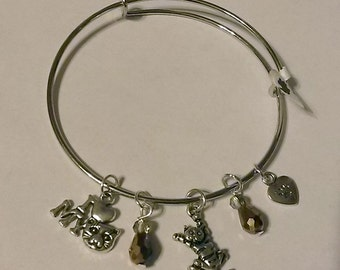 Kitty Charm Adjustable Bracelet