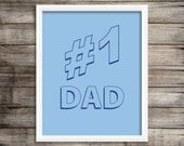 Father's Day Sale  Perfect Father's Day Gift. Seinfeld Inspired Number 1 Dad Art Print Home Decor 8X10 ~ Digital Download.