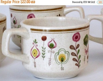 MOVING SALE 4 Piece Set of Lenox Temper Ware Cups.  Sprite Pattern 1974