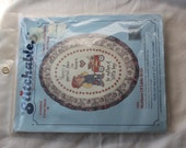 """NEW Dimensions Mothers of Little Boys Stitchables 7854 5"""" x 7"""" Oval Cross Stitch"""