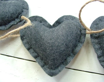 Wool Felt Heart Garland
