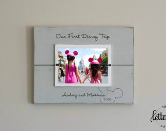 disney picture frame first trip to disney personalized photo frame disney vacation frame - Disney Photo Frames