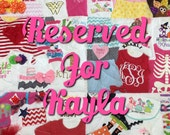Memory Quilt ~ Reserved for Kayla