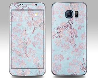 BLUE LAVENDER Galaxy Decal Galaxy Skin Galaxy Cover Galaxy S6 Skin, Galaxy S6 Edge Decal Galaxy Note Skin Galaxy Note Decal Cover