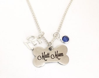 Personalized Mutt Mom Necklace
