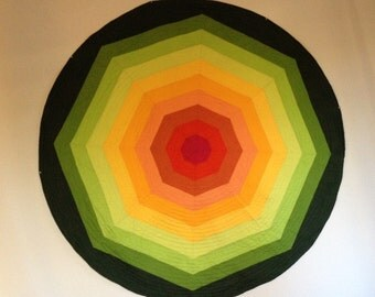 Circle I, Large Hand-Quilted Composition