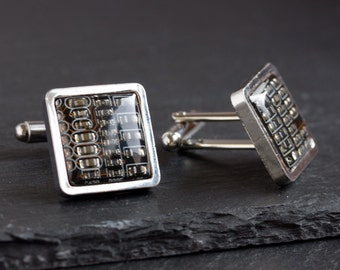 Circuit board Cufflinks - luxury cufflinks, men's cuff links, gift for him, computer geek gift, father's day gift, techie jewelry