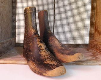 Wooden Shoe Frames...Shoe Trees....Nordic Style Decor.