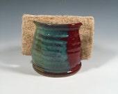 Sponge Holder - Kitchen or Bath Organization - Brick Red and Jade Green - ceramics - pottery - stoneware