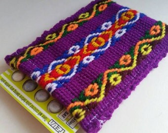Birth Control Case Sleeve- Peruvian cotton webbing: purple