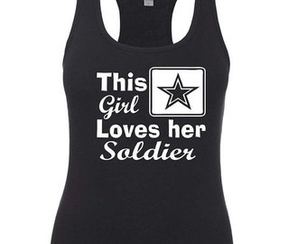 This Girl loves her solider, Military spouse shirt, Deployment strong, Milso, Army wife, Army clothes, Army Girlfriend, Fiance