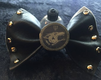 Watain Leather Bow